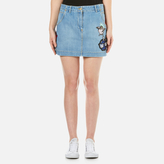 Light Wash Denim Skirt - ShopStyle