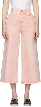 Stella McCartney Pink Wide Galaxy Wash Jeans