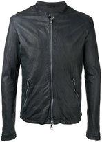 Giorgio Brato zipped jacket - men - Leather/Nylon - 48