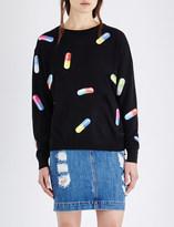 Moschino Capsule-print wool sweatshirt