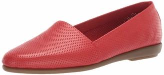 Aerosoles Women's Ms Softee Ballet Flat - Round Toe Slip-On Shoe with Memory Foam Footbed (11W - Black Leather)