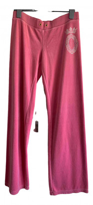 Juicy Couture Pink Cotton Trousers for Women