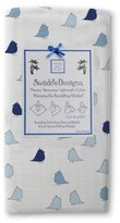 Swaddle Designs Marquisette Swaddling Blanket, Jewel Tone Little Chickies, True Blue by