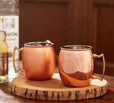 Pottery Barn Copper Moscow Mule Mug, Set of 2