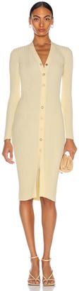 Dion Lee Float Rib Midi Dress in Yellow | FWRD