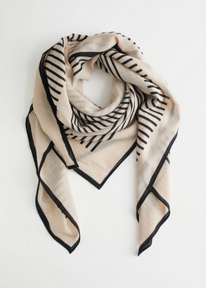 And other stories Striped Light Wool Scarf