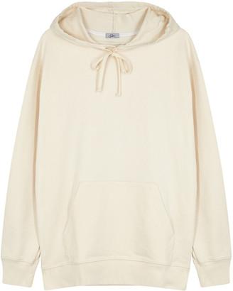 Clu Ivory hooded cotton sweatshirt