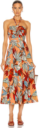 Nicholas Tina Dress in Tamara Deco Floral | FWRD