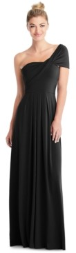 The Dessy Group Full-Length Loop Convertible Dress & Removable Shrug