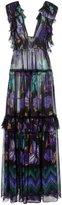 Alberta Ferretti floral print ruffle dress - women - Silk - 38