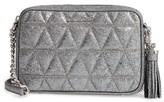 MICHAEL Michael Kors Medium Ginny Leather Camera Bag - Grey