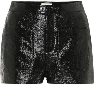 Saint Laurent Coated cotton-blend shorts