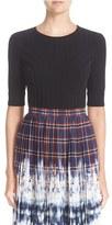 Altuzarra Women's Ozzy Rib Knit Peplum Sweater
