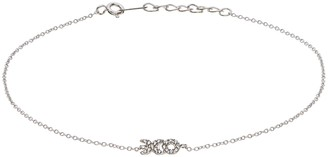 Xo Sophie Miller Sterling Silver Cubic Zirconia Anklet