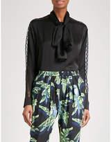 Stella McCartney Lace-detailed silk shirt