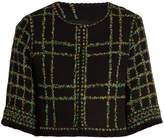 Andrew Gn Floral-tweed cropped jacket