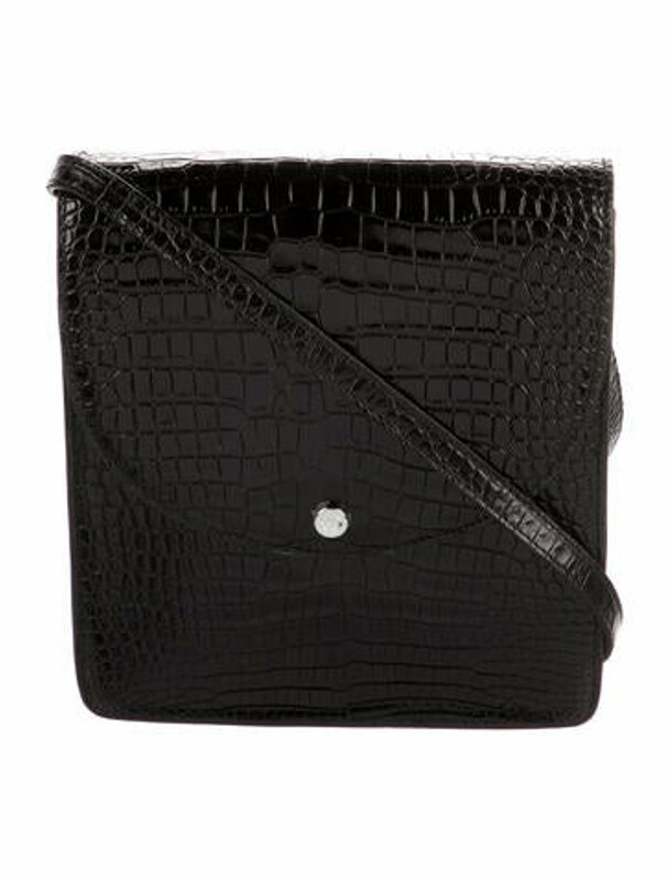 Thumbnail for your product : Elizabeth and James Embossed Leather Crossbody Bag Black