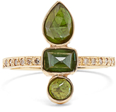 Jacquie Aiche Diamond, tourmaline & yellow-gold ring