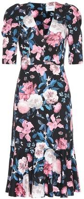 Erdem Ottavia floral ponte jersey dress