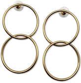 Guess Double Circle Drop Earrings