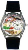 Whimsical Watches Women's S0630002 Realtor Black Leather Watch