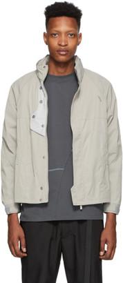 C2H4 Off-White Panelled Intervein Stitch Convertible Track Jacket