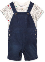 First Impressions 2-Pc. T-Shirt & Denim Shortall Set, Baby Boys (0-24 months), Only at Macy's