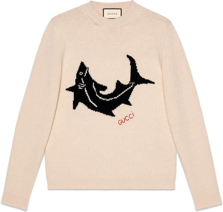 Gucci Wool sweater with shark