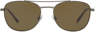 Polo Ralph Lauren Aviator Frame Sunglasses