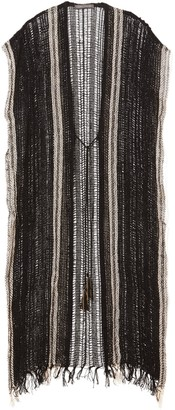 Striped Crochet Kimono