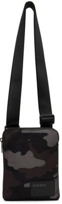 Diesel Black Camo Discover Me Messenger Bag