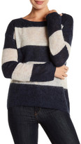 Pam & Gela Striped Alpaca Blend Pullover Sweater