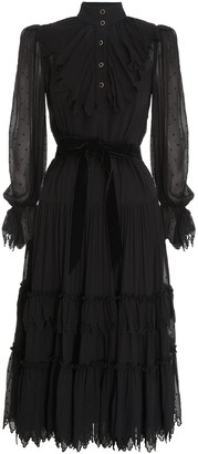 Zimmermann Glassy Triangle Ruffle Midi