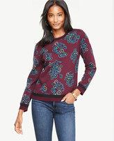 Ann Taylor Bouquet Sweatshirt