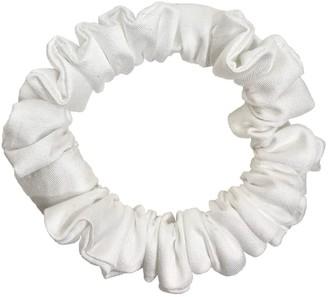 Terra Dea Vegan Bamboo Silk Mini Scrunchie - Satin White