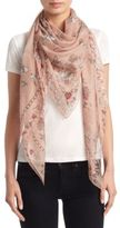 Alexander McQueen Battle of Rose Silk Shawl