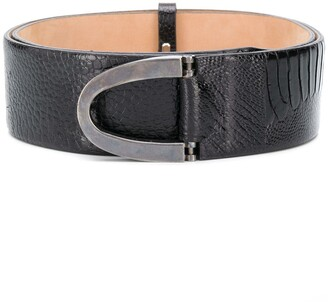 Gianfranco Ferré Pre-Owned 1990s Curved Buckle Belt