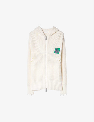 Zadig & Voltaire Moore hooded cotton and wool-blend cardigan