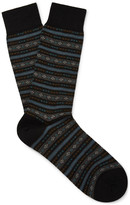 Pantherella - Fulwell Patterned Merino Wool-blend Socks