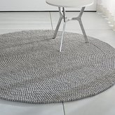Crate & Barrel Markus Steel 6.5' Round Rug