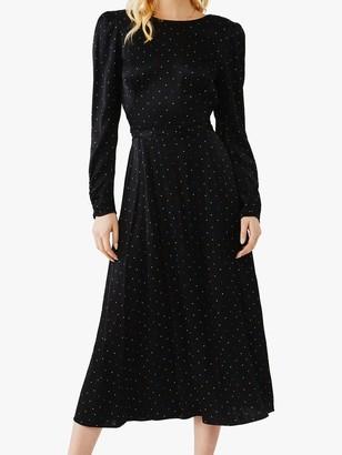 Ghost Lili Spotted Midi Dress, Happy Spot Black