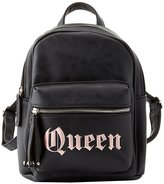 Charlotte Russe Queen Faux Leather Backpack