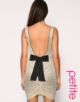 ASOS PETITE Lace Body-Conscious Dress With Bow Back Detail