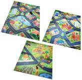 MagiDeal 3 Sets Kid Baby Traffic/City/Farm Pattern Play Mat Crawling Carpet Rug Floor Activity Game Play Blanket Playset Toy