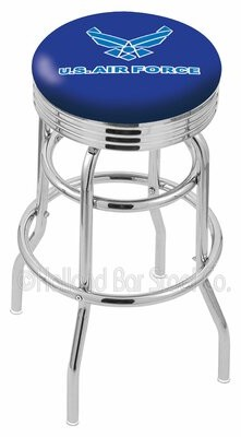 "Holland Bar Stool US Armed Forces 30"" Swivel Bar Stool Branch: Air Force"