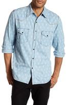 Ryan Michael Chambray Indigo Print Shirt