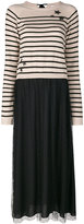 RED Valentino striped pleated dress - women - Polyamide/Polyester/Spandex/Elastane/Wool - XS