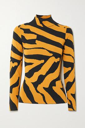 Proenza Schouler Stretch Jacquard-knit Turtleneck Sweater - Black