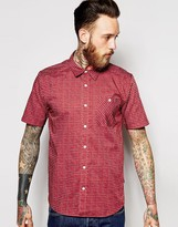 Patagonia Shirt With Print Slim Fit Short Sleeves - Red