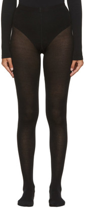 Wolford Black Merino Wool Tights